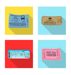 Ticket and admission icon vector