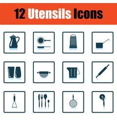 Utensils icon set vector
