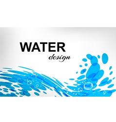 Water design splash wave on white background vector image