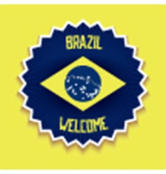 Welcome to Brazil sign vector image