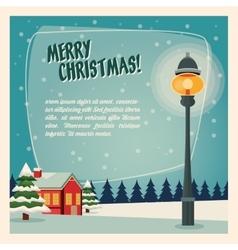 Winter house icon Merry Christmas design vector