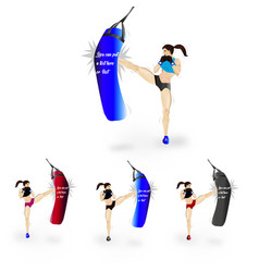 woman boxing pack vector image