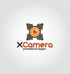 x camera - spy drone camera logo vector image