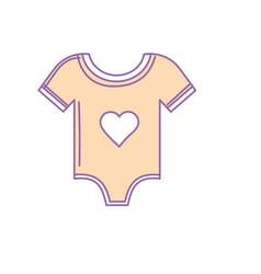 baby clothes that used to sleep vector image vector image