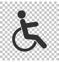 Disabled sign Dark gray icon on vector image vector image