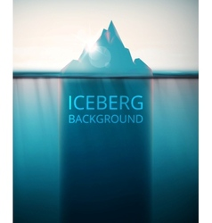 Iceberg background vector image vector image