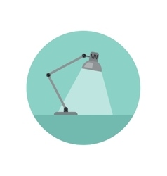 Lamp flat icon vector image vector image