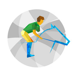 physically disabled horseman flat sport icon vector image