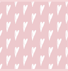 Print seamless pattern with hearts seamless vector