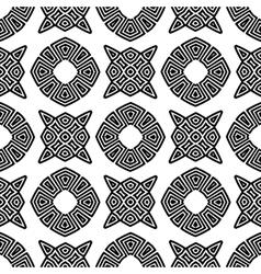 Seamless Geometric Greek Ornament vector image
