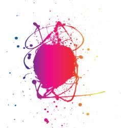 splat neon vector image