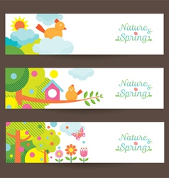 Spring Season Object Icons Banner vector image vector image