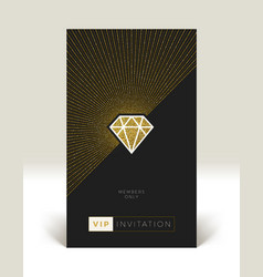 Template of vip invitation vector