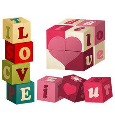 Valentine love games vector image vector image