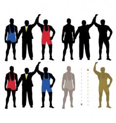 wrestler winner vector image