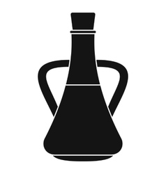 Bottle with olive oil icon simple style vector image vector image