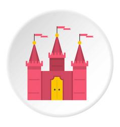 Castle icon circle vector