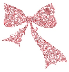 Floral bow vector image