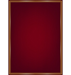 Red texture and golden frame vector image