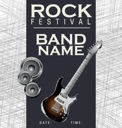 Rock festival background vector image