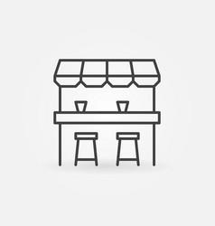 street bar outline icon - design element vector image vector image