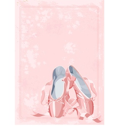 ballet pointe shoes vector image
