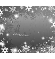Christmas snowflake border vector image