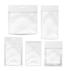 plastic polyethylene pocket bag set blank vector image vector image