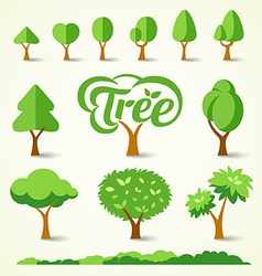 Trees collections design vector image vector image