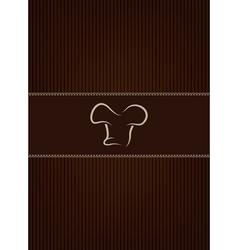 Brown restaurant menu cover vector image