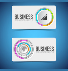 business horizontal banners vector image