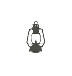 Camping lantern icon silhouette icon oil lamp vector