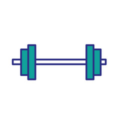 dumbbell weight isolated vector image