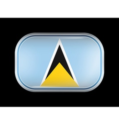 Flag of Saint Lucia Rectangular Rounded Shape vector image vector image