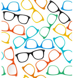 Glasses Hipster Style Background Pattern vector image vector image