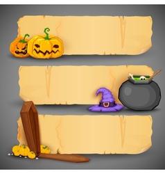 Happy Halloween Header and Banner vector image vector image