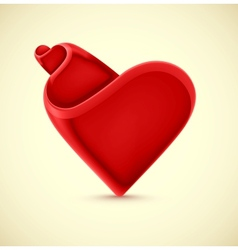 Isolated heart vector image vector image