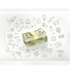 Money business infographics vector image