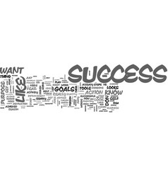 what does success look like to you text word vector image vector image