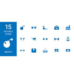 15 heavy icons vector