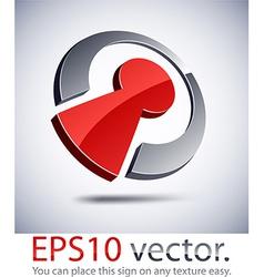 3D modern birdie logo icon vector