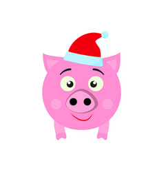 a pig new year icon in color vector image