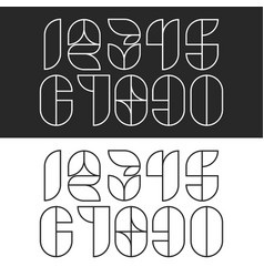a set hipster numbers monogram linear geometric vector image