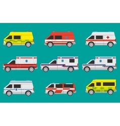 Ambulance cars vector image