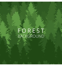 Background forest with trees silhouette vector