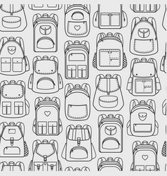 Backpacks seamless pattern vector
