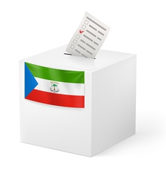 Ballot box with voting paper Equatorial Guinea vector