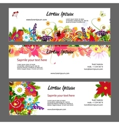 Banners template floral design vector