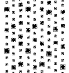 Black and white grunge pattern with squares vector image