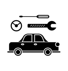 car service icon sign o vector image